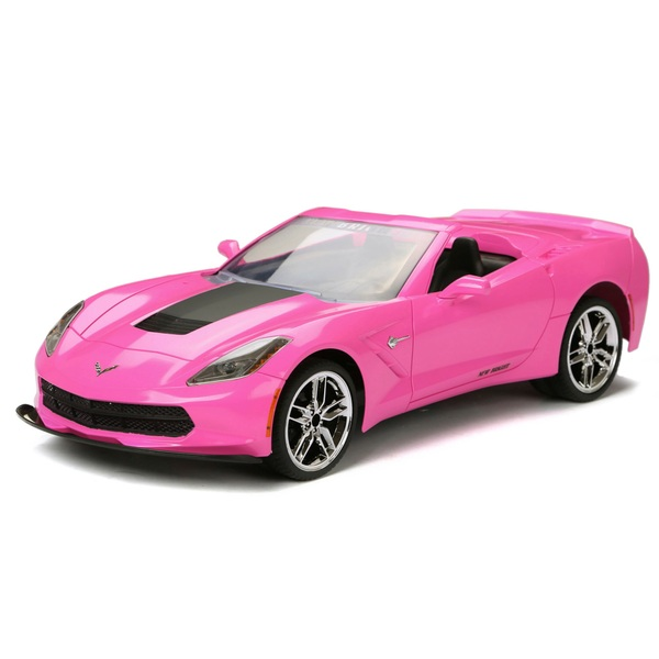 1:8 New Bright Radio Control Pink Corvette