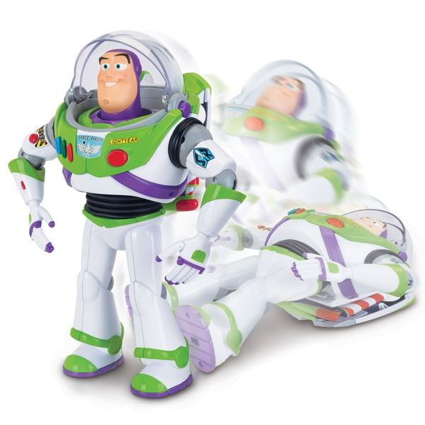 Buzz Lightyear with Interactive Drop-Down Action 30cm Figure Toy Story 4