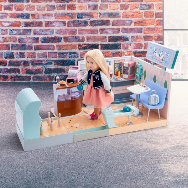Our Generation Retro Bowling Alley Playset
