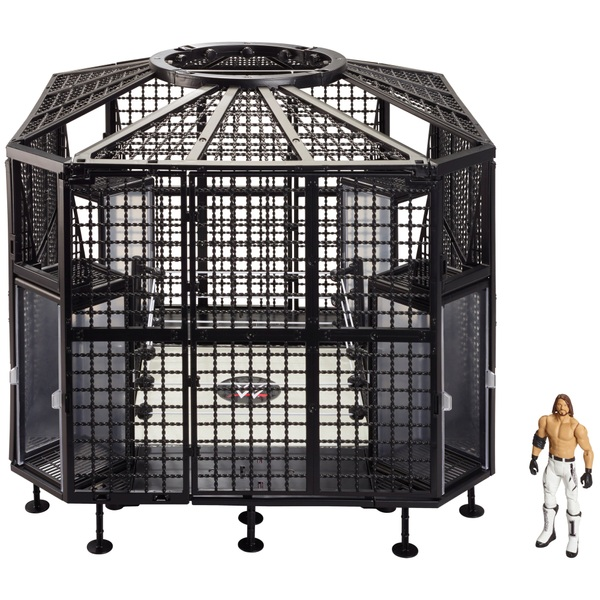 WWE Elimination Chamber Playset with AJ Styles Figure
