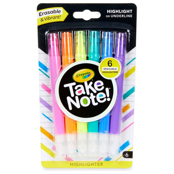 Crayola Take Note Highlighters 6 Piece