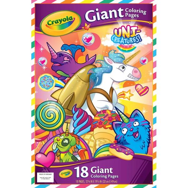 Crayola Unicreatures Giant Colour Book
