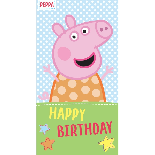 Peppa Pig No Age Birthday Card