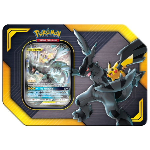 Pokémon Trading Card Game: Pikachu & Zekrom GX TAG Team Tin