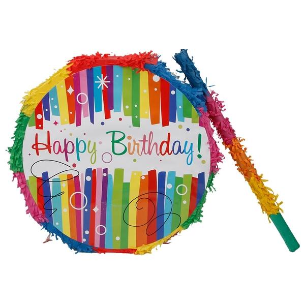 Partybedarfpartydeko - Piñata Happy Birthday Set, mit Stock - Onlineshop Smyths Toys