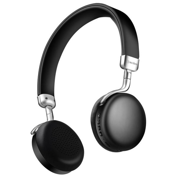 Av Link Metallic Bluetooth Headphones Black