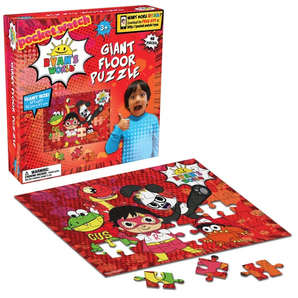 Ryan's World Giant Floor Puzzle 46 Piece Count