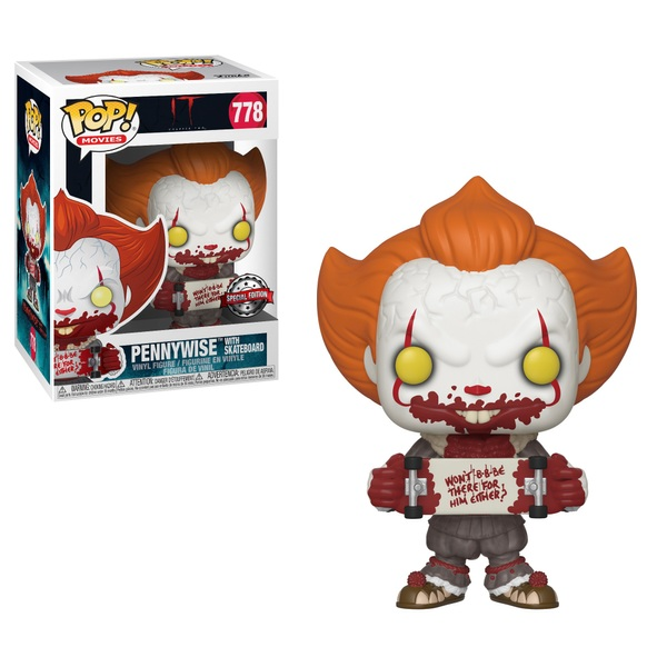 POP! Vinyl: IT Chapter Two Pennywise with Skateboard