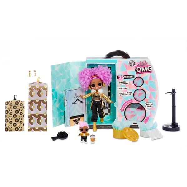 L.O.L. Surprise! O.M.G. Winter Disco 24K D.J. Fashion Doll and Sister
