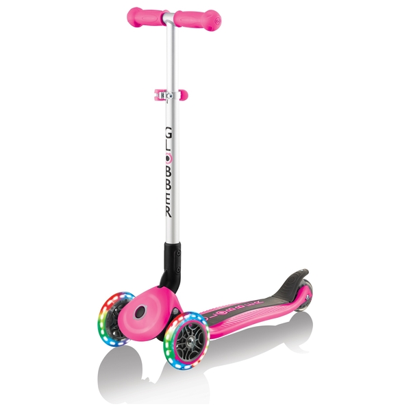 Globber PRIMO FOLDABLE LIGHTS Pink Scooter