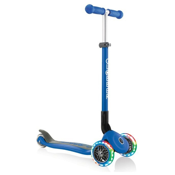 Globber PRIMO FOLDABLE LIGHTS Blue Scooter