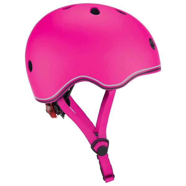 Globber GO•UP HELMET Neon Pink with Lights