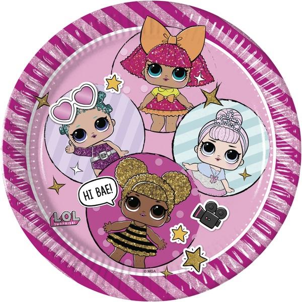 Partybedarfpartydeko - L.O.L. Surprise 8 Pappteller - Onlineshop Smyths Toys
