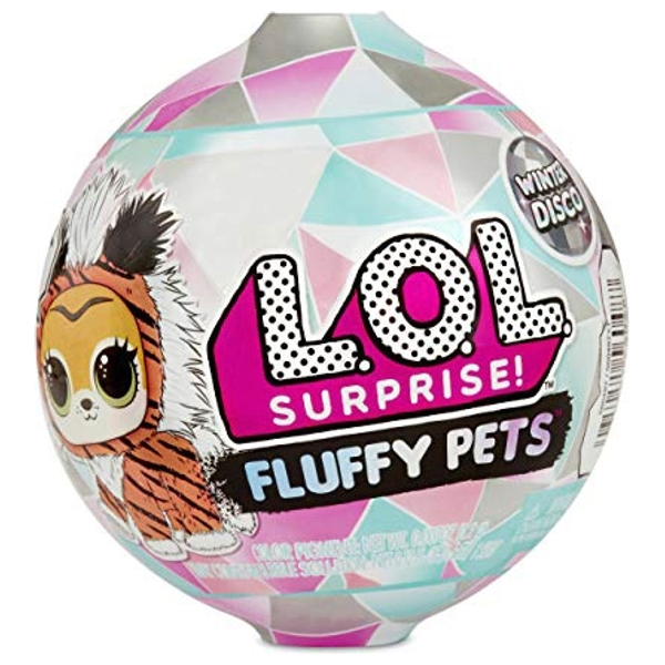 L.O.L. Surprise! Fluffy Pets Winter Disco Series with Removable Fur Assortment