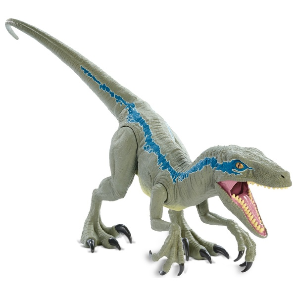 Jurassic World Super Colossal Velociraptor Blue Toy Dinosaur