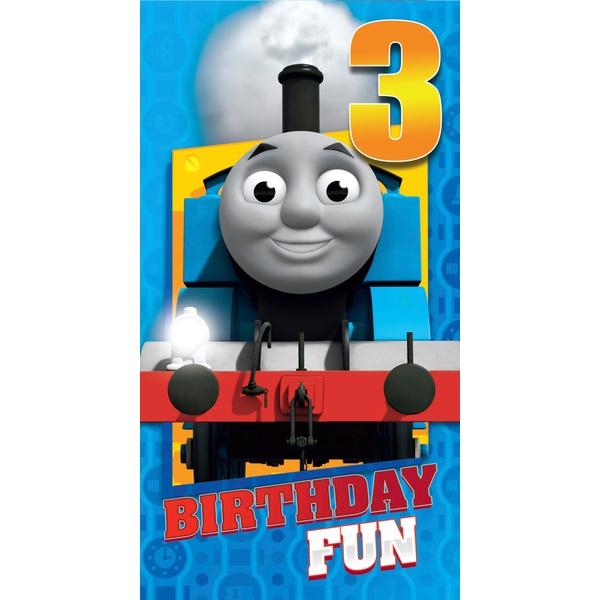 Thomas Birthday Card Age 3
