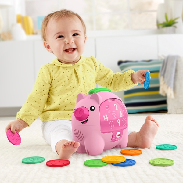 Fisher-Price Laugh & Learn Count & Rumble Piggy Bank Activity Toy