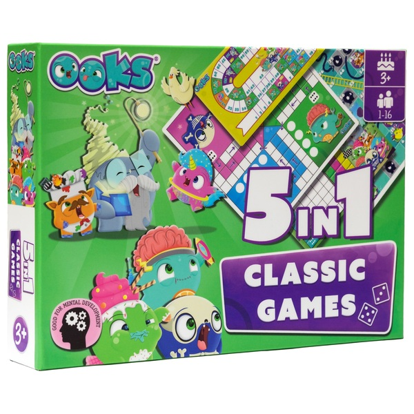 OOKS 5-in-1 Classic Games