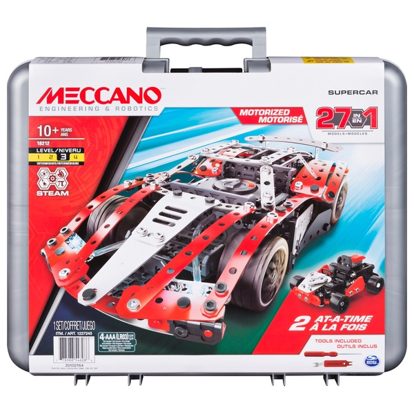Meccano 27-in-1 Supercar Model Set