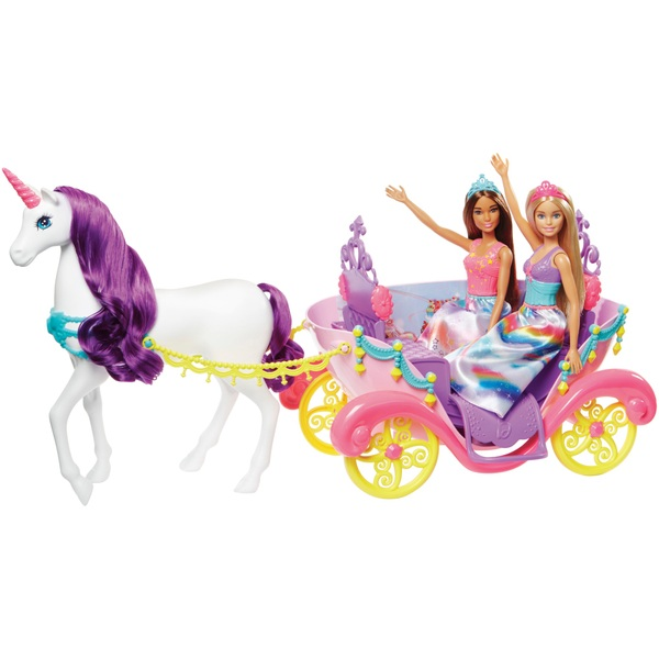 Barbie Dreamtopia Unicorn Carriage with 2 Dolls