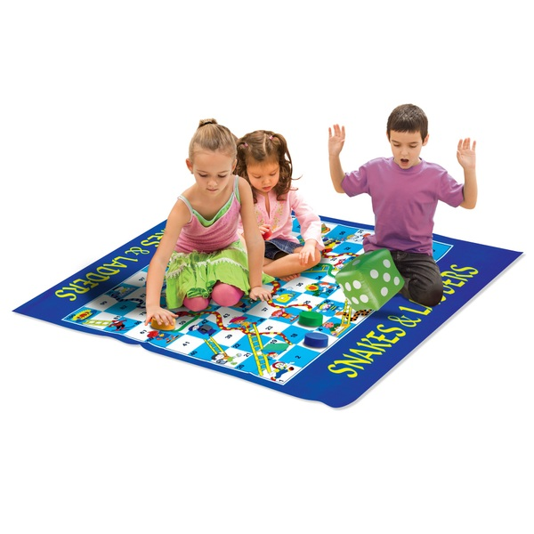 Giant Snakes and Ladders Playmat Game