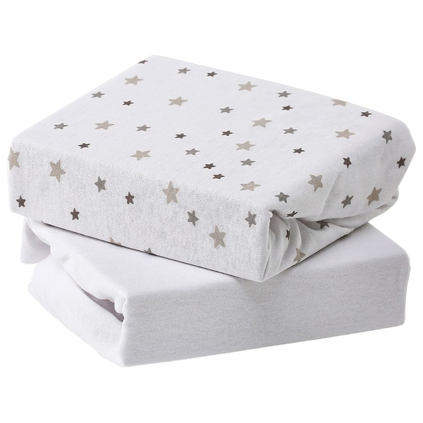 Baby Elegance Jersey Sheets - Grey Star Crib