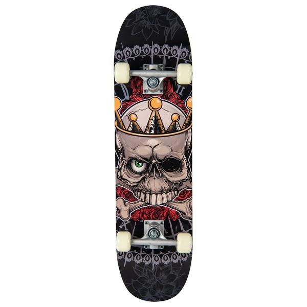 Grey Skullz Skateboard 78cm