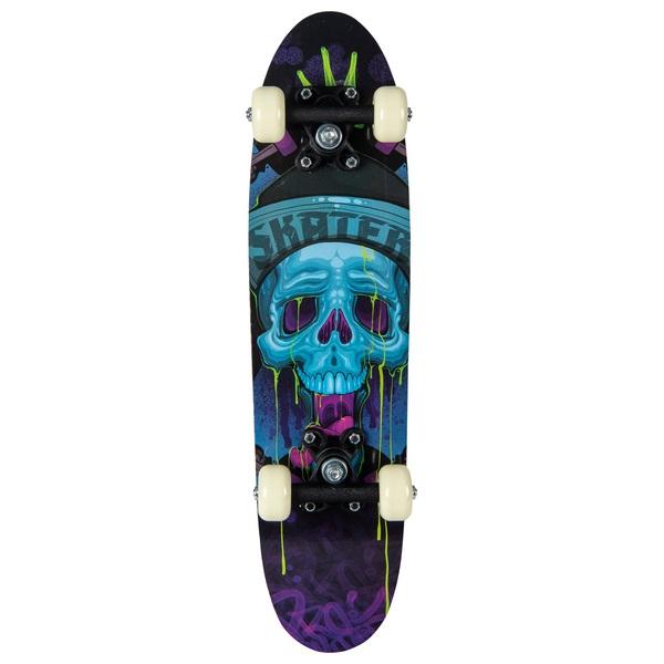 Blue Skullz Skateboard 61cm