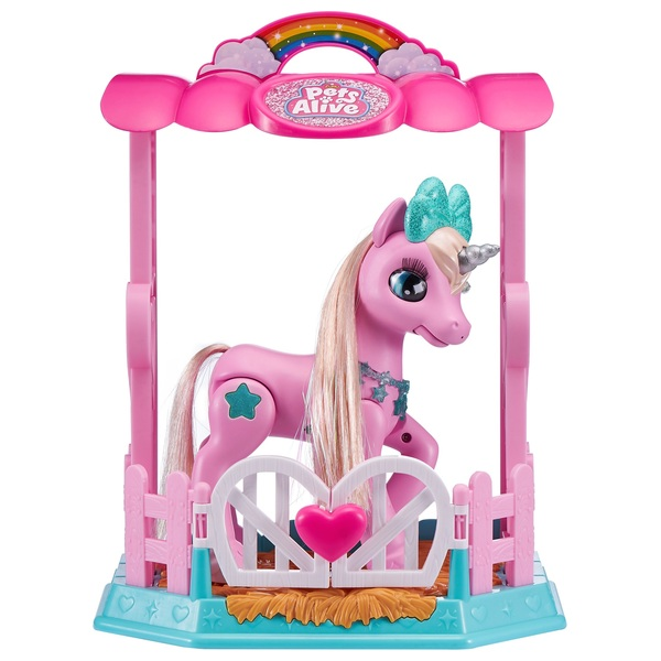 Pets Alive My Magical Unicorn and Stable Playset Pink