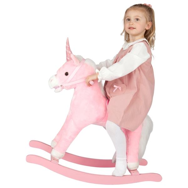 Pink Rocking Unicorn