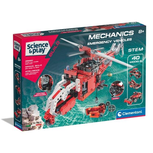 Clementoni Mechanics Laboratory Rescue Emergency Vehicles
