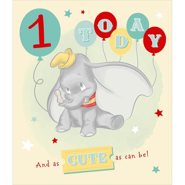 Dumbo Birthday Card Age 1
