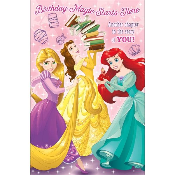 Disney Princess Birthday Card No Age