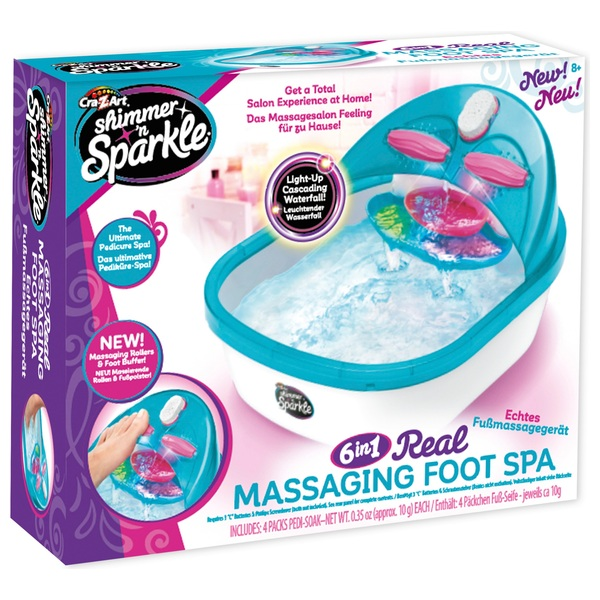Shimmer 'n Sparkle Massaging Foot Spa