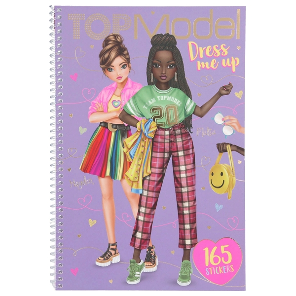 TOPModel Dress Me Up Cherry Bomb Colouring book