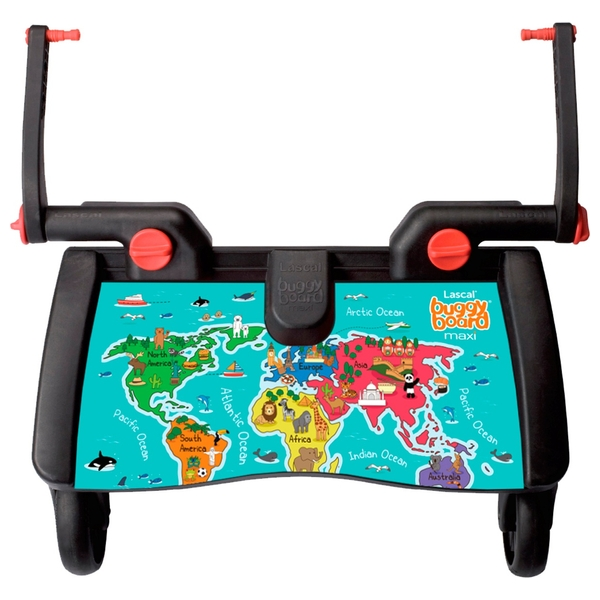 Lascal Maxi Buggyboard World Map Pushchair Accessories Uk