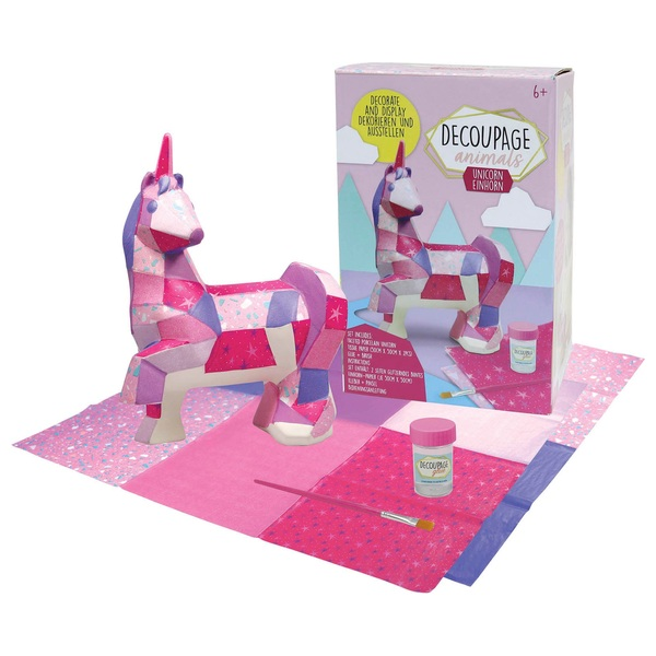 Decoupage Animals Unicorn