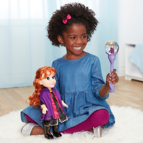 Disney Frozen 2 Anna Deluxe Doll with Snow Scepter