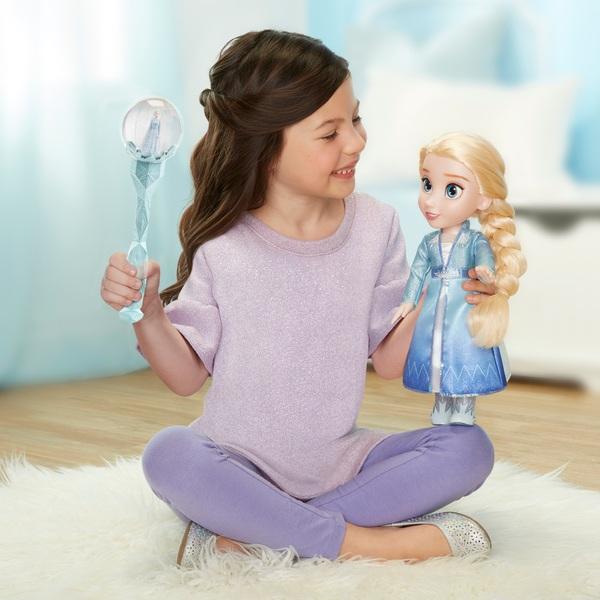 Disney Die Eiskönigin 2 - Elsa Puppe mit Zauberstab