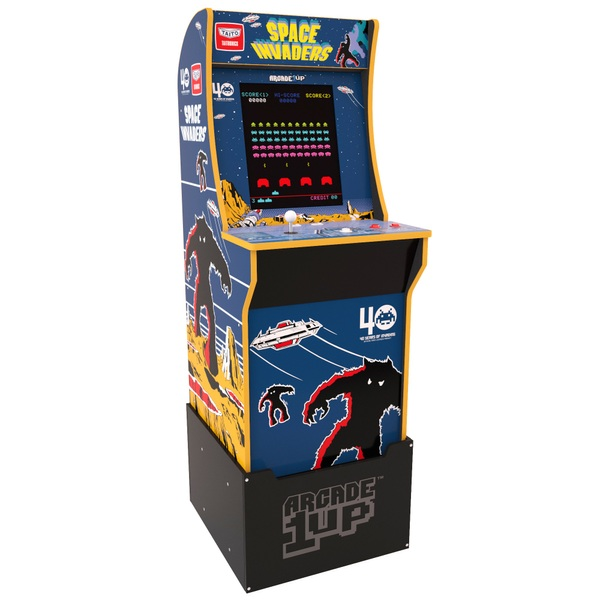 Arcade1Up Space Invaders Cabinet Including Riser