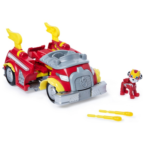 PAW Patrol Mighty Pups Super Paws Marshall's Transforming Fire Truck