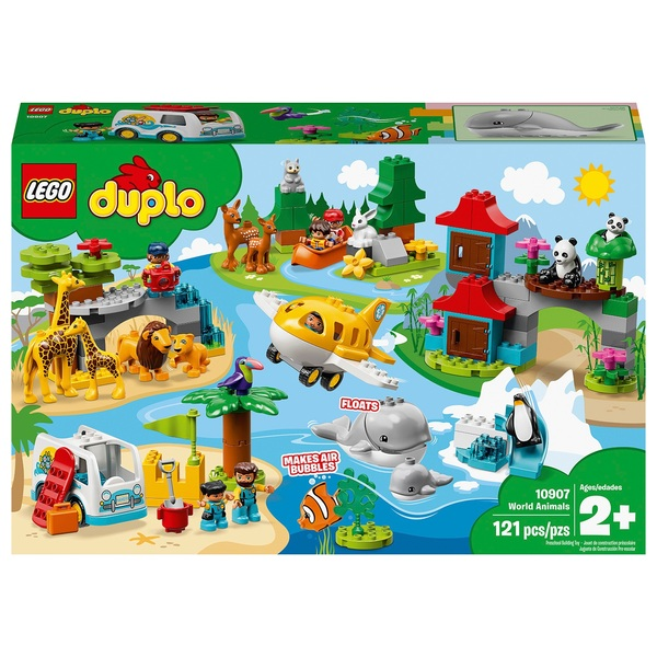 LEGO 10907 DUPLO Town World Animals Toys for Toddlers