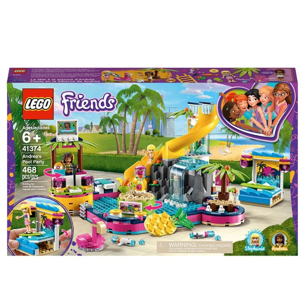 LEGO 41374 Friends Andrea's Pool Party Building Set