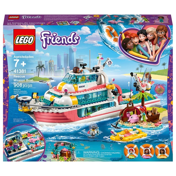 LEGO 41381 Friends Rescue Mission Boat Toy Sea Life Set