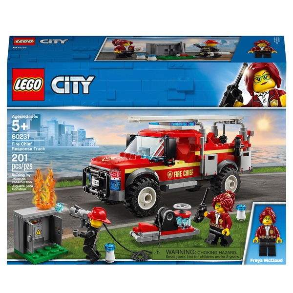 LEGO 60231 City Town Fire Chief Response Truck Fire Engine Set