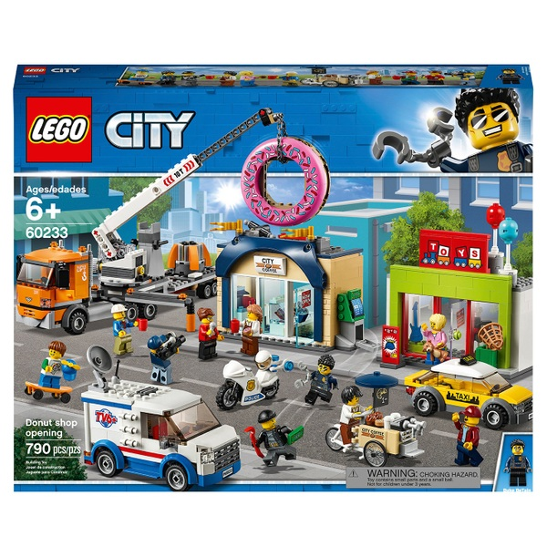 LEGO 60233 City Town Donut Shop Opening Truck Toy Cars Set