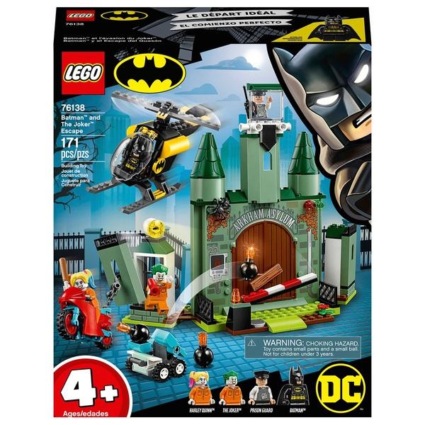 LEGO 76138 4+ DC Batman Batman and The Joker Escape Toys
