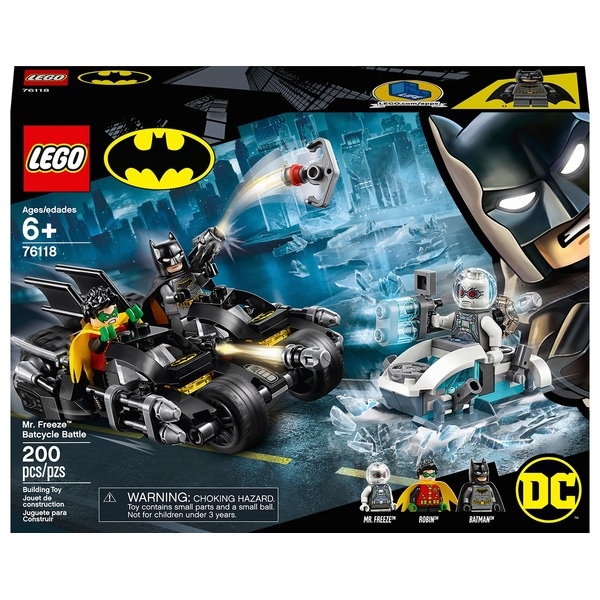 LEGO 76118 DC Batman Mr. Freeze Batcycle Battle Toy Bike