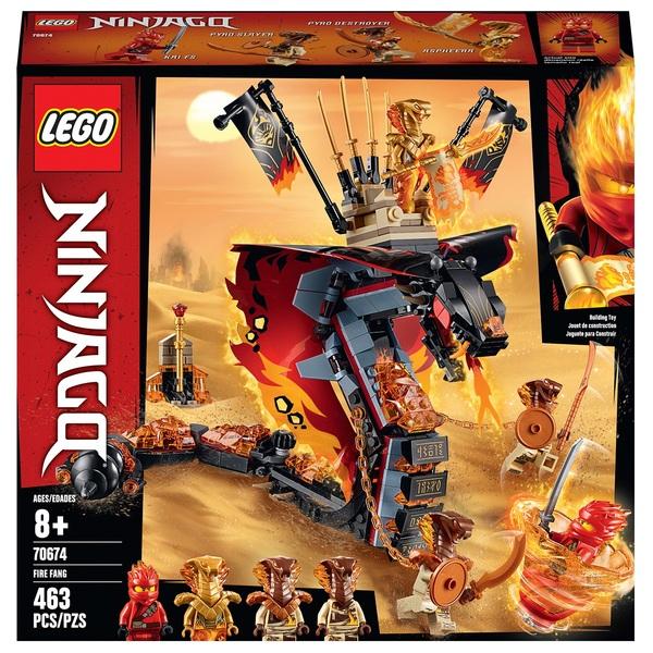 LEGO 70674 NINJAGO Fire Fang Snake Toy for Kids