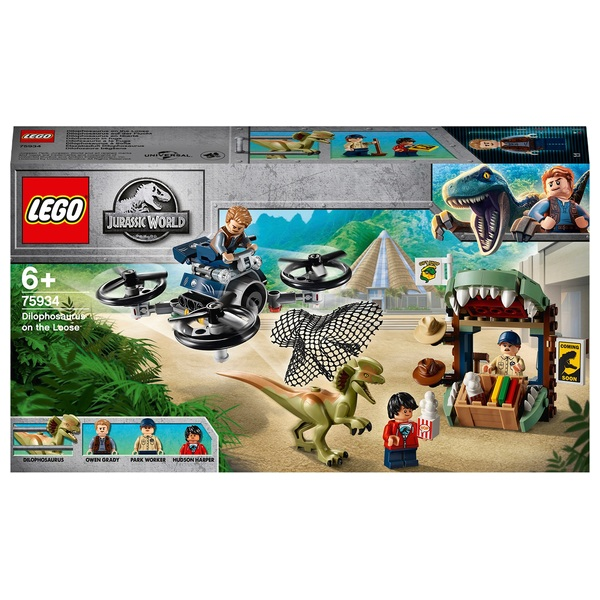 LEGO 75934 Jurassic World Dilophosaurus on the Loose Set